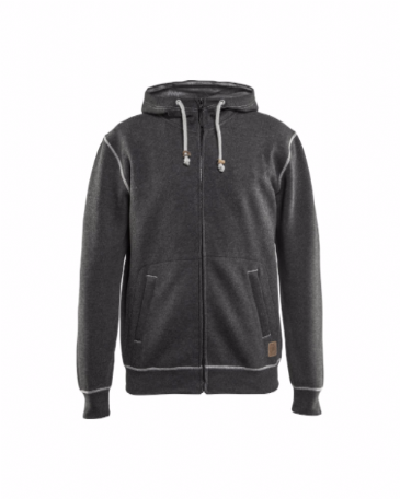 Blaklader 3398 Hoodie With Full Zip (Black Melange)